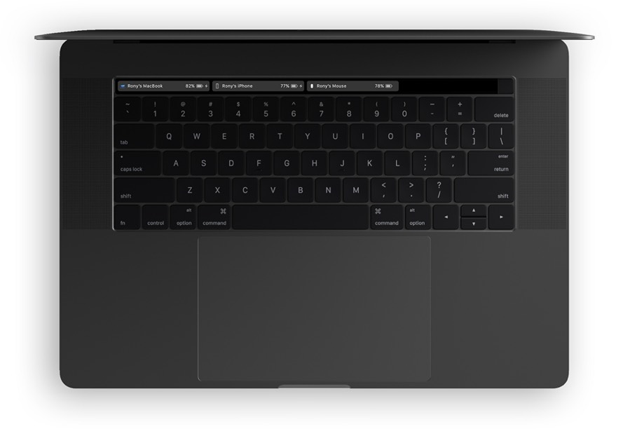 batteries in macOS Touch Bar