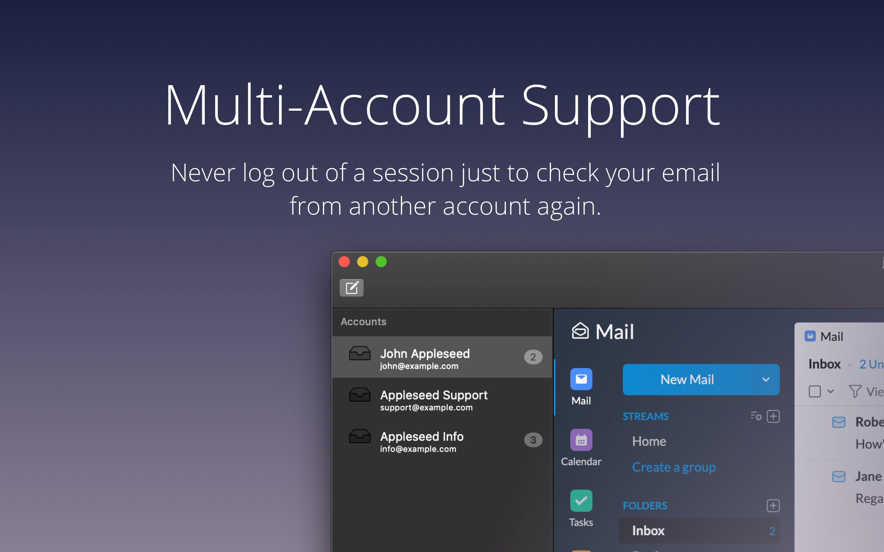 never log out of a session just to check your email from another account.